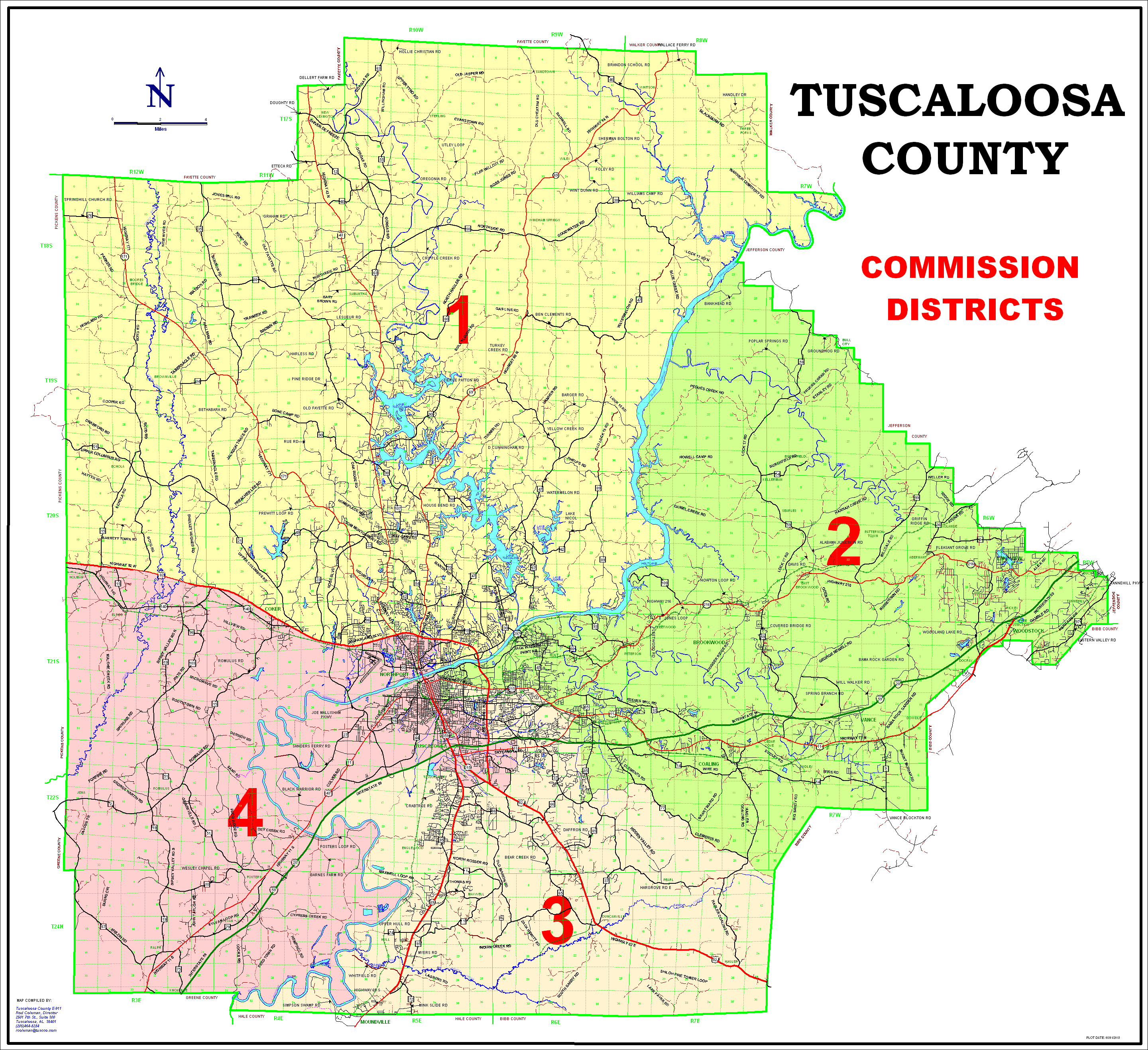 County Commission District Maps - Tuscaloosa County Alabama on map of airports in alabama, map of rivers in alabama, map of city in alabama, map of municipalities in alabama, map of climate in alabama, map of cities and towns in alabama, map of hospitals in alabama,