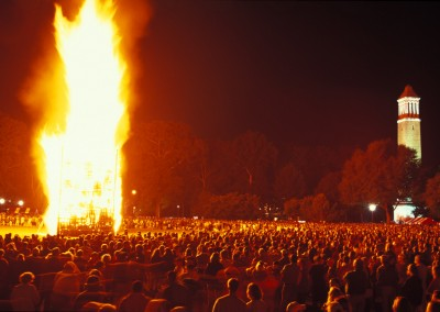 UA Homecoming Bonfire