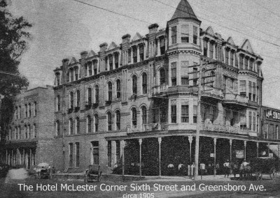 Hotel McLester, Corner Sixth Street and Greensboro Avenue