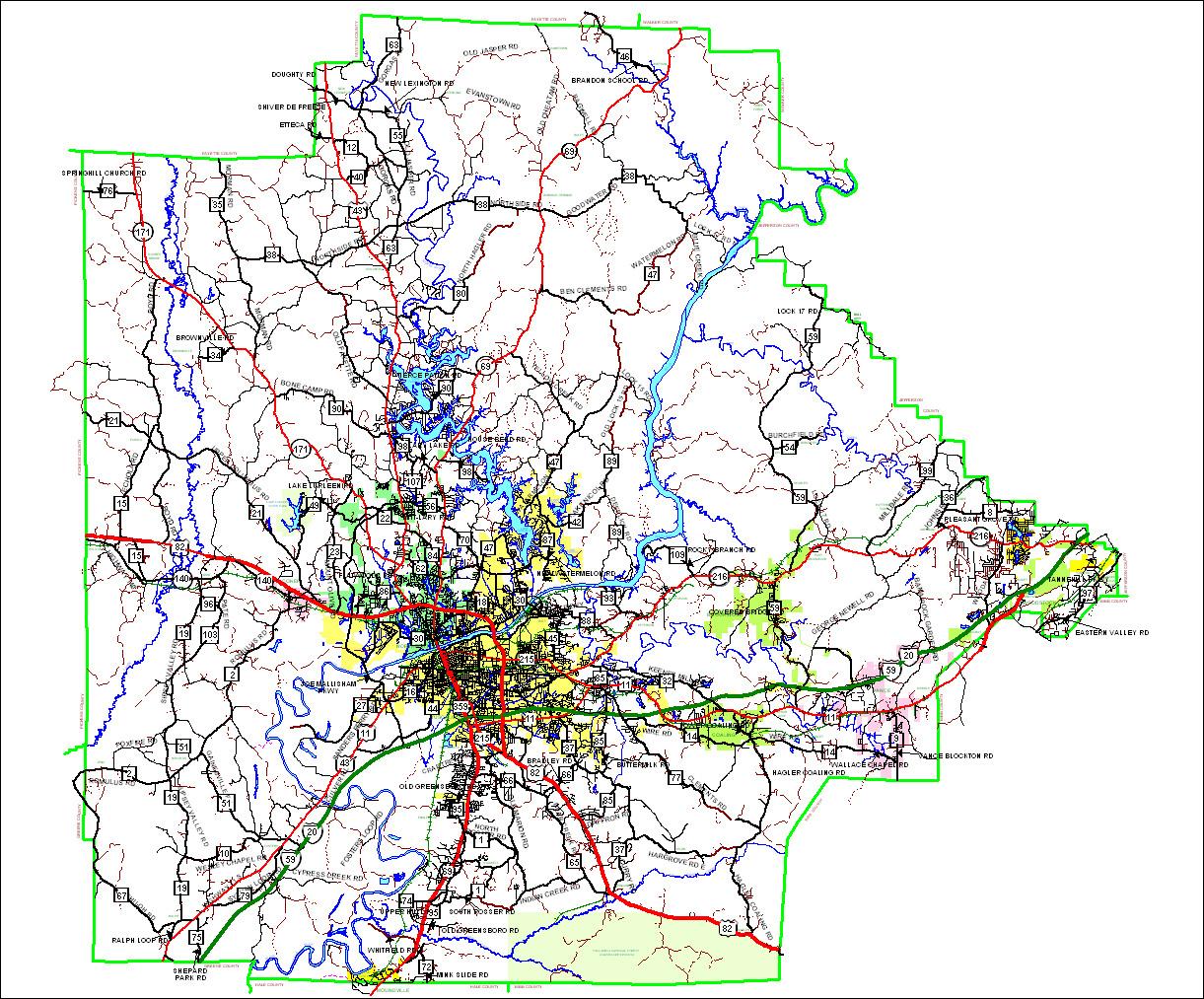 Tuscaloosa County Roads - Tuscaloosa County Alabama on