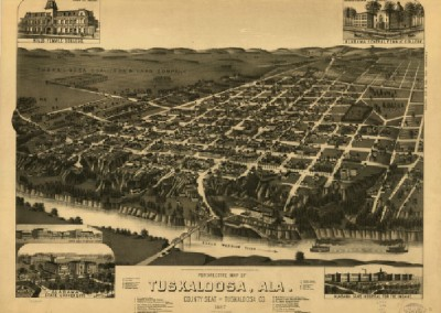 Tuskaloosa, Alabama Map, 1887