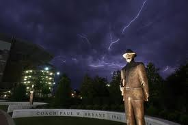 Bear Bryant Statue in front of Bryant-Denny Stadium